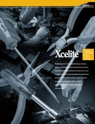 Originating from a tiny metalworking company in 1921, the Xcelite ...