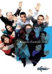 Rapport d'activité 2011 - Afnic