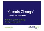Neville Ford, Wakefield Council Presentation