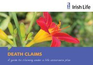 Death claims - Irish Life