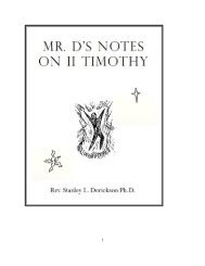 Mr. D's Notes on II Timothy - The Dericksons