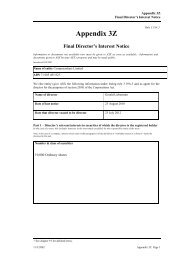 Final Director's Interest Notice - Computershare