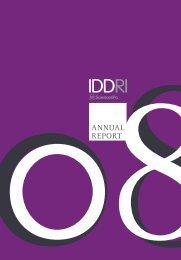 Annual report 2008 - Iddri