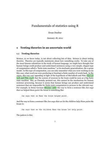 Fundamentals of statistics using R