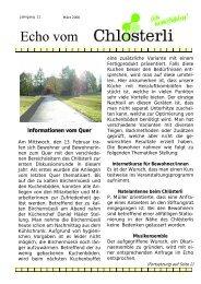 Ausgabe März - Altersheim Chlösterli, Unterägeri
