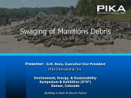 Swaging of Munitions Debris - E2S2