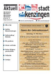 Open-Air-Jahreskonzert - Kenzingen