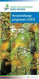 Veranstaltungskalender Portal Burg Wissem 2013 / HJ 2 als PDF