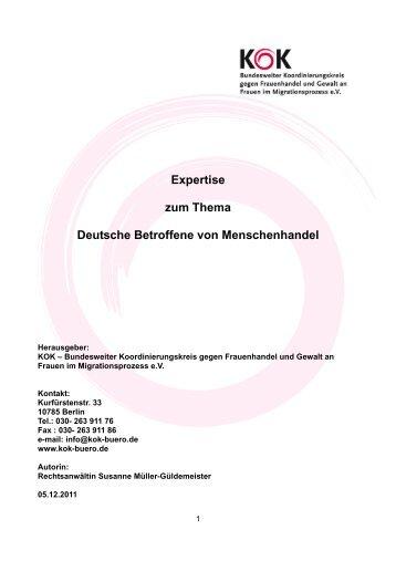 Expertise zum Thema Deutsche Betroffene von ... - KOK