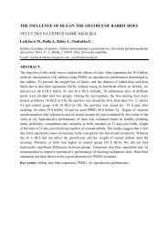 the influence of dls on the oestrus of rabbit does vplyv dls na estrus ...