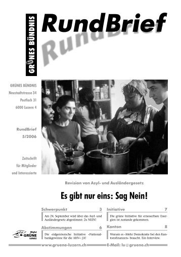 Nr. 5/2006 - Grüne Luzern