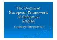 The Common European Framework of Reference (CEFR)
