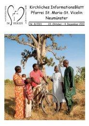 Gottesdienst-Ordnung vom 22.10. bis 04.12.2011 - St. Vicelin