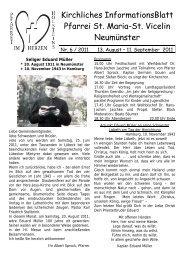 Gottesdienst-Ordnung vom 13.08. bis 11.09.2011 - St. Vicelin