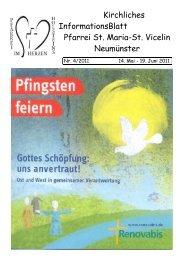 Gottesdienst-Ordnung vom 05. - 17.06.2011 - St. Vicelin