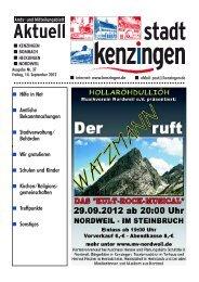 Beliebt in der Stadt und der Region: Herbstmarkt zum ... - Kenzingen