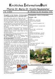 Gottesdienst-Ordnung vom 30.10. - 28.11.2010 - St. Vicelin