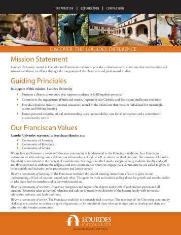 Fact Sheet - Lourdes College