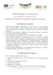Regulamin rekrutacji na staż w ramach projektu - Zespół Szkół ...