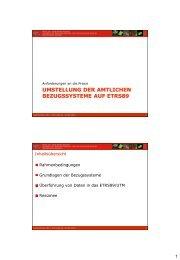 Den Vortrag von Prof. Runne finden Sie hier. - netzwerk | GIS ...
