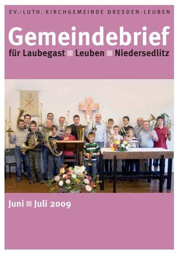 Gemeindebrief Juni/Juli 2009 - Ev.-Luth. Kirchgemeinde Dresden ...