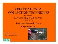 SEDIMENT DATA- COLLECTION TECHNIQUES
