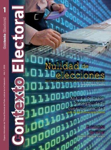 Nulidad elecciones - Tribunal Electoral del Poder Judicial de la ...