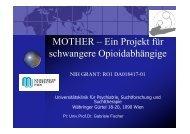 MOTHER – Ein Projekt für schwangere Opioidabhängige