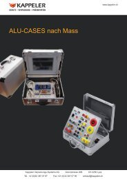 ALU-CASES nach Mass - Kappeler Verpackungs-Systeme AG