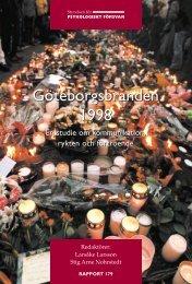 Göteborgsbranden 1998 : en studie om ... - RIB Bibliotek