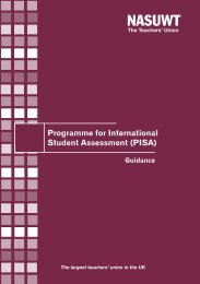 Guidance on PISA England - NASUWT