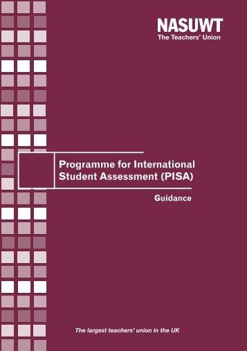 Guidance on PISA England - NASUWT