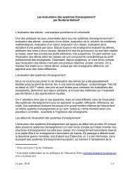 Les évaluations des systèmes d'enseignement1 par ... - Oxydiane.net