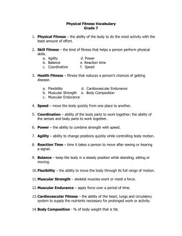parts of physical fitness