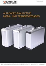 und transportcases - Kappeler Verpackungs-Systeme AG
