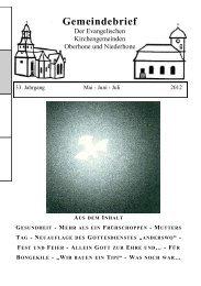 Gemeindebrief - Kirchenkreises Eschwege