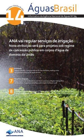 ANA vai regular serviços de irrigação Nova atribuição será para ...