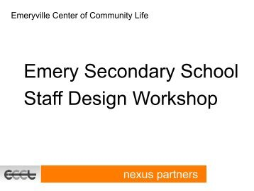 ESS Staff Workshop - Emeryville Center of Community Life