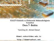 ELK273 Elektrik ve Elektronik Mühendisliğinin Temelleri Ders 4 ...