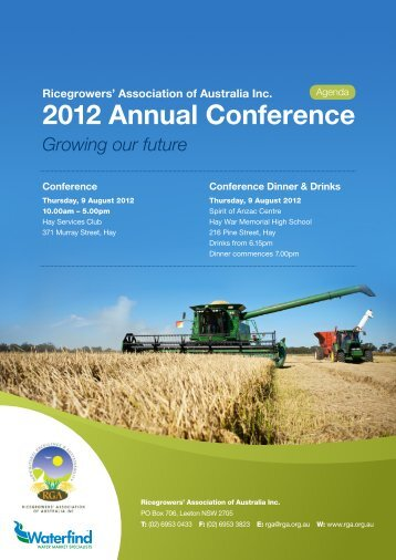 2012 Annual Conference - Ricegrowers' Association of Australia