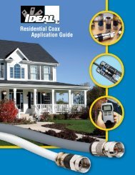 Residential Coax Application Guide - Ideal Industries