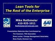 Lean Tools For The Enterprise - ASQ Baltimore 0502