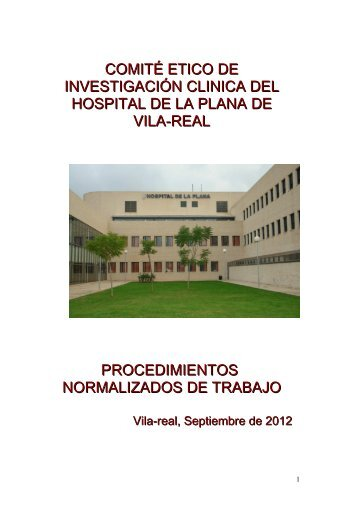 Documento de Procedimientos normalizados de trabajo