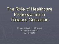 The Role of Healthcare Professionals in Tobacco ... - TriStar Health