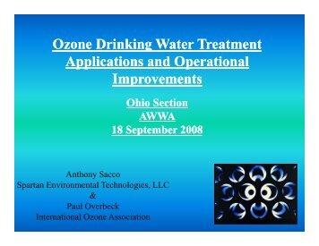 Ozone Drinking Water Treatment - Spartan Environmental ...