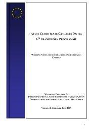 Audit Certificate Guidance Notes Version 2 5 - June 2007 ... - Europa