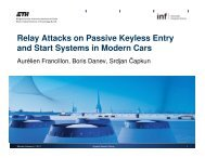 Relay Attacks on Passive Keyless Entry and Start Systems in ...