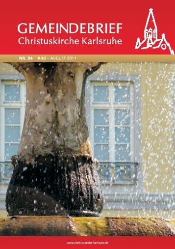 Gemeindebrief Nr. 84, Christuskirche Karlsruhe
