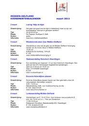 MIDDEN-DELFLAND EVENEMENTENKALENDER maart 2011