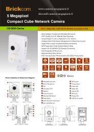 5 Megapixel Compact Cube Network Camera - Camera Megapixels